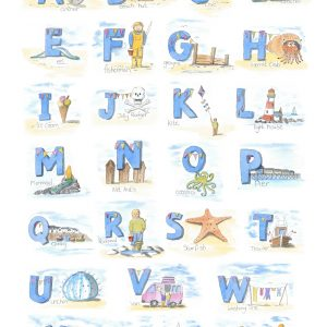 A5 card  Seaside Alphabet
