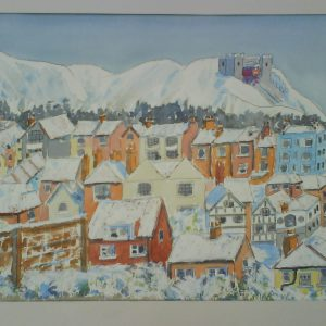 Snow scene Hastings Old Town Christmas card