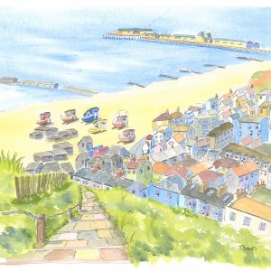 """""""View from Hastings East Hill towards The Old Town Coaster circular."""