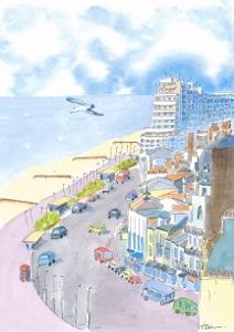 """""""St Leonards-on-Sea East Sussex."""" Coaster circular."""