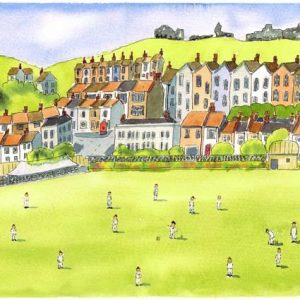 Cricket at Priory Meadow Hastings East Sussex -A4 print