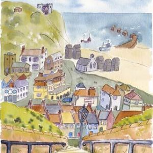 """""""View from Hastings West Hill towards The Old TownCoaster circular."""