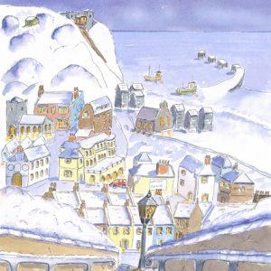 Snowy Hastings Christmas card