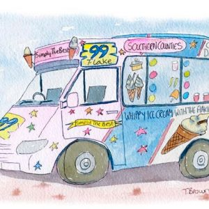 Ice cream van Hasting Old Town
